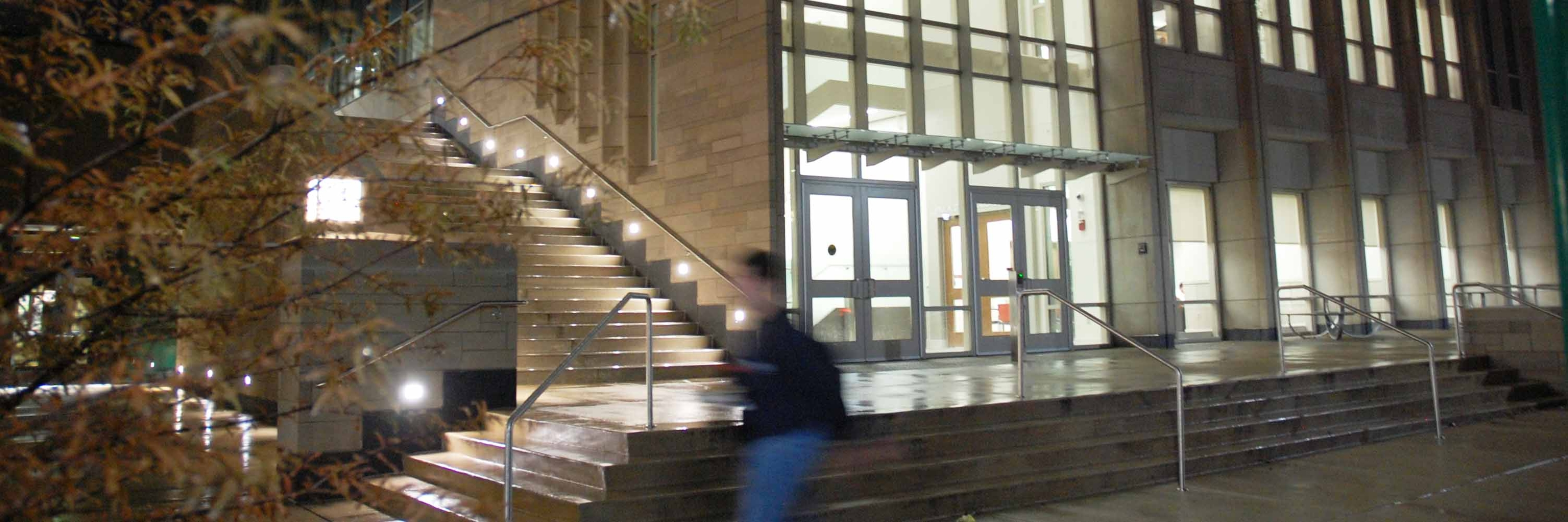 spea building at night