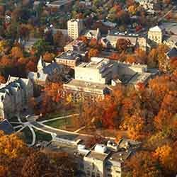 Bloomington campus aerial photo