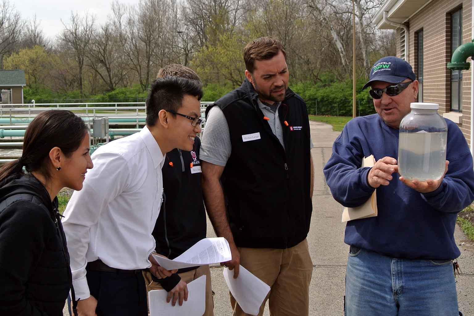 Students visit the Plainfield Water Plant